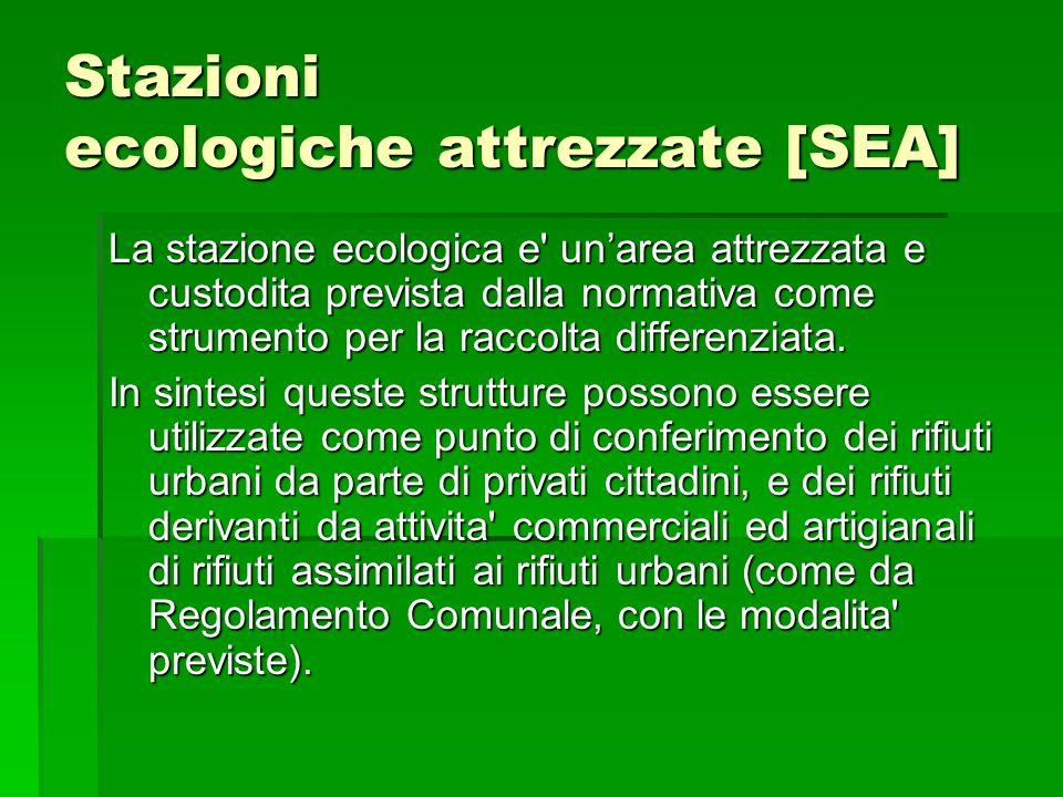 Stazioni ecologiche attrezzate [SEA]
